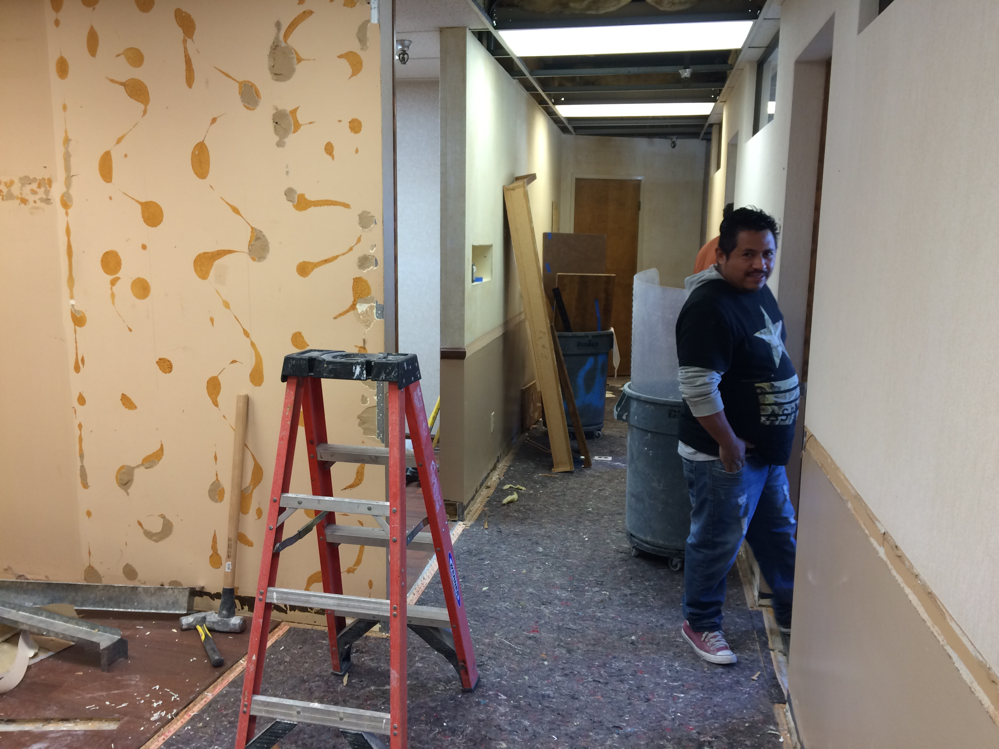 Former Waiting Room Demolition Office Newport Beach Dental Office Remodel 2