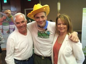 Dr Dana Rockey and Peggy Rockey with Stephen Ritz Vertical Garden JuiscePlus+ event